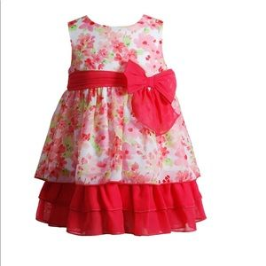 Baby Girl Youngland Floral Tiered Chiffon Dress